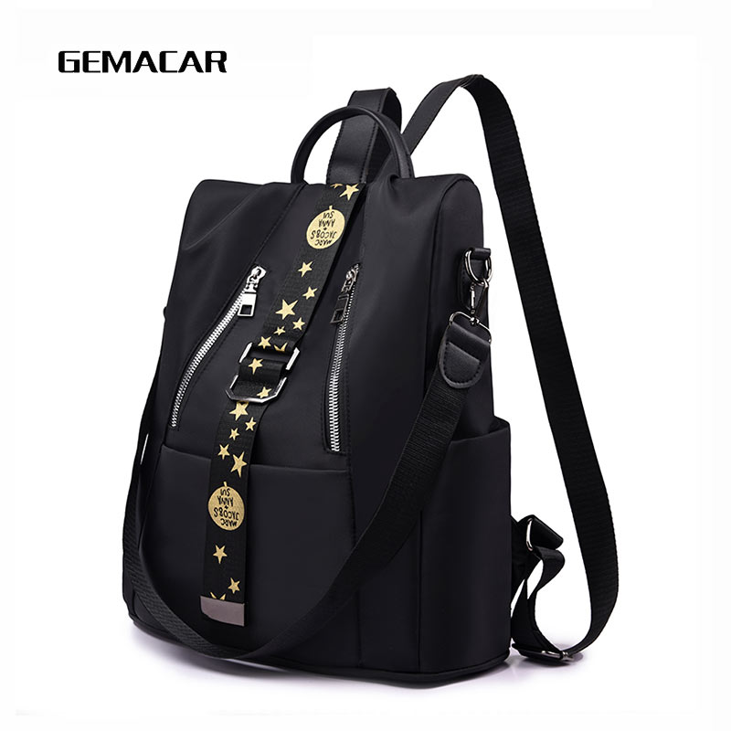 Women Burglar-proof Backpack Casual Shopping Bag Fashion Female  Simple Commuter Cloth Backpack Suitable For Young People