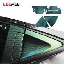 LEEPEE naklejki samochodowe Anti scratch wyściółka do wgłębienia klamki do drzwi miska ochronna pokrywa Film dla Honda xrv vezel akcesoria samochodowe samochód stylizacji