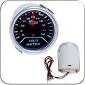 """2 """" 52 MM Universal voltaje voltios Car Gauge 8 - 18 v Meter Auto LED blanco"""