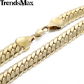 Trendsmax Gold Filled Cuban Necklace Mens Boys Curb Chain Link 11mm 49.5cm Wholesale Jewelry Dropship GN60