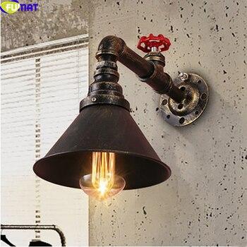 FUMAT Industrielle Retro Amerikanische Nostalgischen Kreative LOFT Bar Lampe Treppen Lampe Einzigen Kopf Wasser Rohr Lampe Stil Eisen Wand Lampe