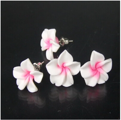 Hesiod 2017 Por Korean Peach Blossom Multicolor Frangipani Stud Earrings Boucles D Oreilles Pour Les Femmes In From Jewelry Accessories