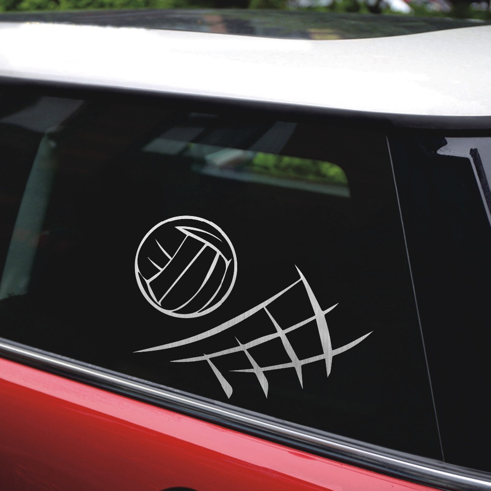 Rylybons 13 510 2cm beach volleyball decor car stickers decal silhouette vinyl window stickers car accessories