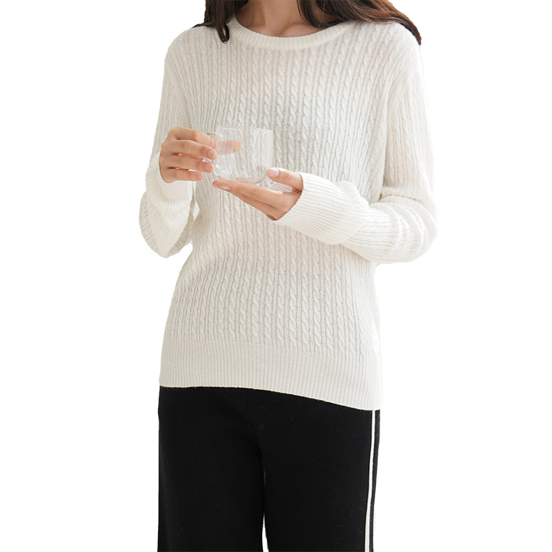 Autumn Winter Sweater Women O-Neck Loose Pullovers Rib Jumper Knitted Basic Casual Sweaters Korean Style Brief Jumper SA029S50(China)