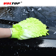 2 sztuk rękawice do sprzątania samochodów Auto ręcznik do mycia z mikrofibry szczotka do mycia Clean Duster pojazdu Home Office gąbki koral tkaniny przybory do pielęgnacji