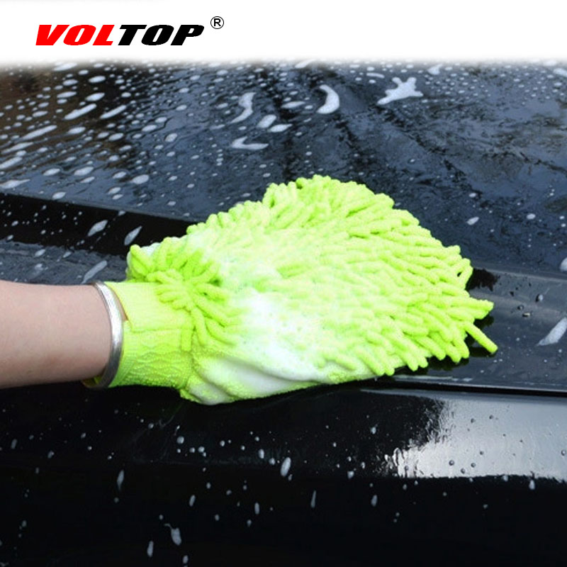 2pcs Car Cleaning Gloves Auto Washing Towel Microfiber Wash Brush Clean Duster Vehicle Home Office Sponges Coral Cloth Care Tool-in Sponges, Cloths & Brushes from Automobiles & Motorcycles
