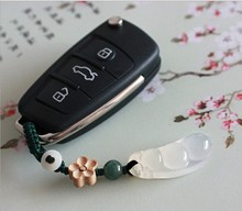 key Rings Natural agate handmade original Chinese style weaving multi-purpose ring pendant hanging ornaments for keychain