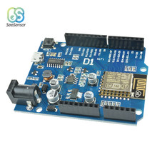 WeMos D1 CH340 CH340G WiFi Development Board ESP8266 ESP-12 ESP-12E Module For Arduino IDE UNO R3 Micro USB ONE 3.3v 5v 1A black due r3 board due ch340 atsam3x8e arm main control board with ch340g for arduino