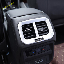 Lapetus Fit For Volkswagen VW Tiguan MK2 2016 - 2019 Armrest Box Rear AC Air Vent Outlet Cover Trim / Matte / Carbon Fiber Style цена