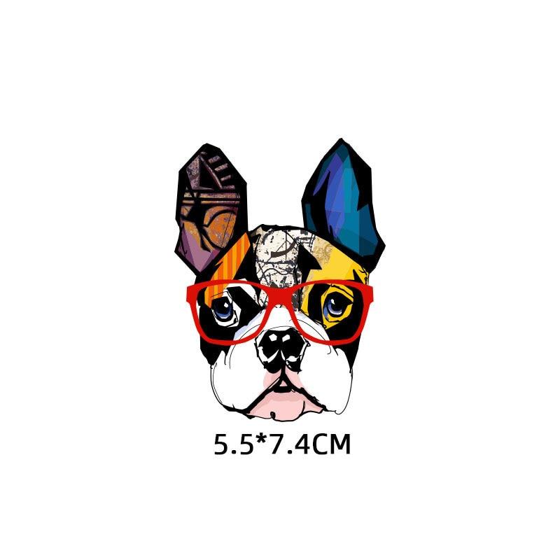 Милые маленькие животные Единорог Сова собака кошка патч для одежды стикер для детей мальчик девочка DIY патчи Футболка теплопередача Винил - Цвет: zt1119