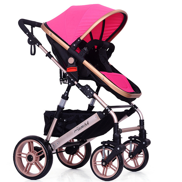 Hot Sale Baby Stroller Can Be Sitting and Lying Baby Children Shock Proof Foldable Four Wheels Carriage Baby Stoller WW0031