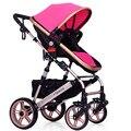 Venda quente Carrinho De Bebê Pode Ser Sentado e Deitado Bebê Crianças À Prova de Choque Carrinho de Bebê Dobrável Quatro Rodas Stoller WW0031