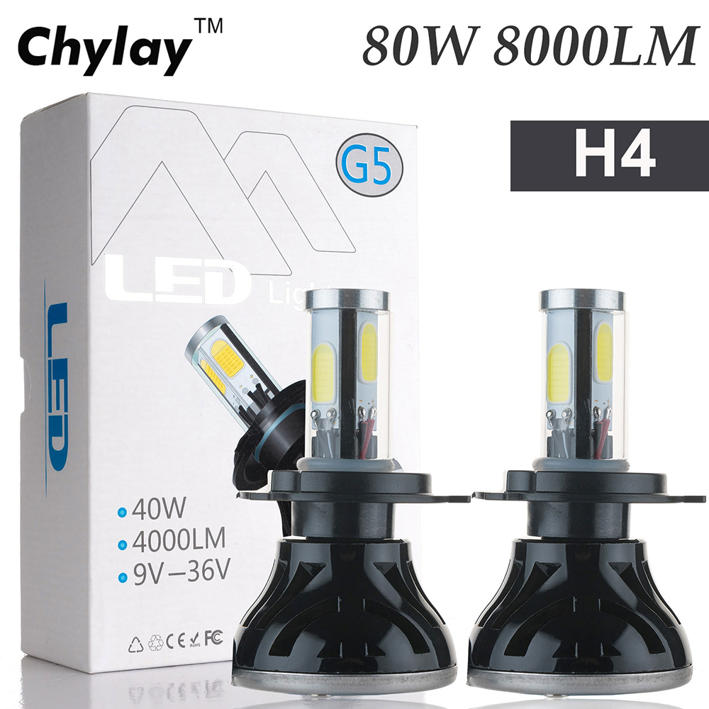 2x All in One Led Lamp h4 80W 8000LM H7 H11 9005 H10 9006 for Automotive Headlight Fog bulb Car Light 2x led car headlight h4 led headlight bulbs for cree chips h4 h7 h11 12v 80w 8000lm led automobiles head lamp front light