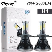 2x Tutto in Una Lampada A Led h4 80 w 8000LM H7 H11 9005 H10 9006 per Automotive Faro Nebbia Della lampadina auto Luce