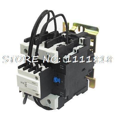 Ui 110V Auxiliary Contactor Block + 3 Pole 1 NO Ith 95A Contactor 660v ui 10a ith 8 terminals rotary cam universal changeover combination switch