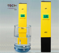 HONGYI цифровой дисплей рН-метр Тесты er 0-14 рН карман ручка для аквариума воды Тесты аквариум Тесты ручка с регулированием температуры
