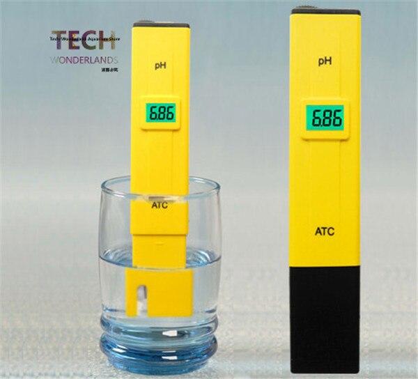 HONGYI Digital Display PH Meter Tester 0-14 PH Pocket Pen For Aquarium Water Test Fish Tank Test Pen With Temperature Regulation