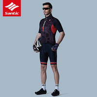 Santic Cycling Vest Bike Gilet Men Sleeveless Cycling Clolthing Windproof Breathable Bicycle Clothes Downhill Ropa Ciclismo