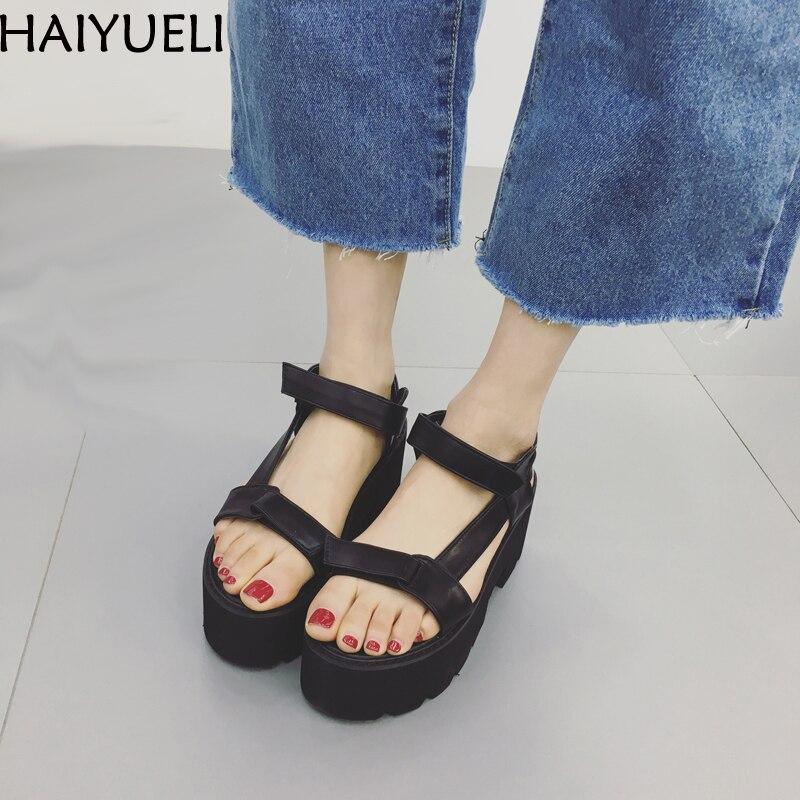 forme Épaisse Grimpante Femmes Plat Chaussures Mode Plate De Sandales Gladiateur Occasionnels Noir D'été gqqTEHU0