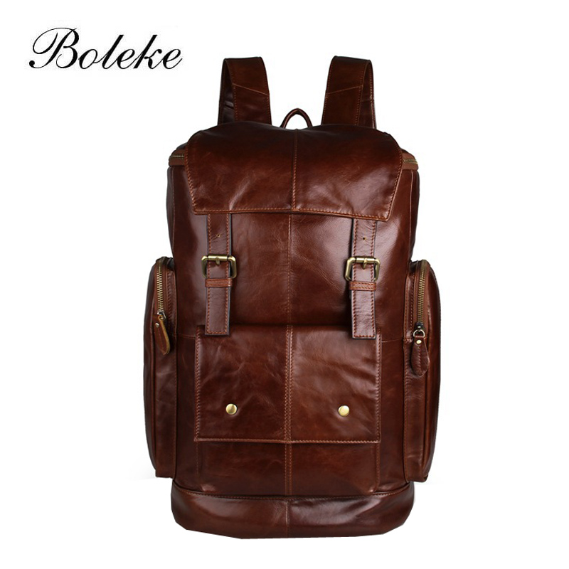 Famous Brand Real Genuine Leather Women Backpack School Bags for Girls Vintage handmade Backpacks Fashion Travel Tote Bag 7311 high quality pu leather backpack women bag fashion solid backpacks school bags famous brand travel backpack 2017 new shell bags
