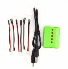 6pcs cable and 1x 6in1 charger rc Quadcopter Part Charger Connector Wire for Wltoys V911 F929 F939 Battery Charging X6 Charger