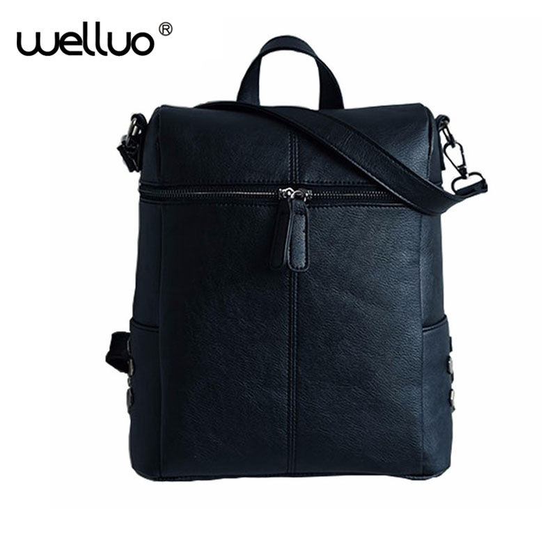 2018 Vintage Women Backpacks Pu Leather School Bags For Teenagers Girls Laptop Backpacks Travel Bagpack Mochila Feminina  XA346B