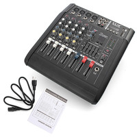 Professional PMX402D-USB 4 Channel Powered DJ Mixer Power Mixing Amplifier Amp USB