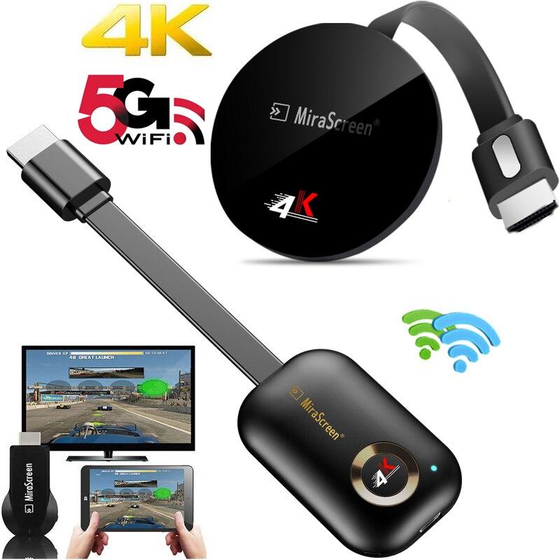 2.4G/5G 4K sans fil WiFi miroir câble HDMI adaptateur 1080P affichage Dongle pour iPhone Samsung Xiaomi Huawei Android téléphone à la télévision