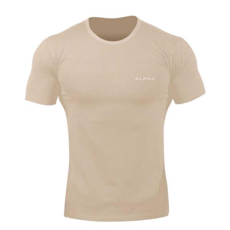 2019 Gym Shirt Sport Kemeja Pria Kebugaran Berjalan Kemeja Pria Dry Fit Lengan Pendek T Shirt Latihan Pria Penjaga Ruam Olahraga tshirt