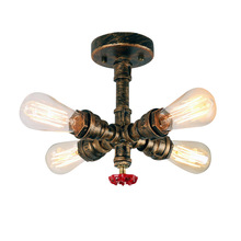 Loft Industrial Ceiling Lights American Country Retrowaterpipe Retro Ceiling Lamps LED Edison Lamp Home Lighting