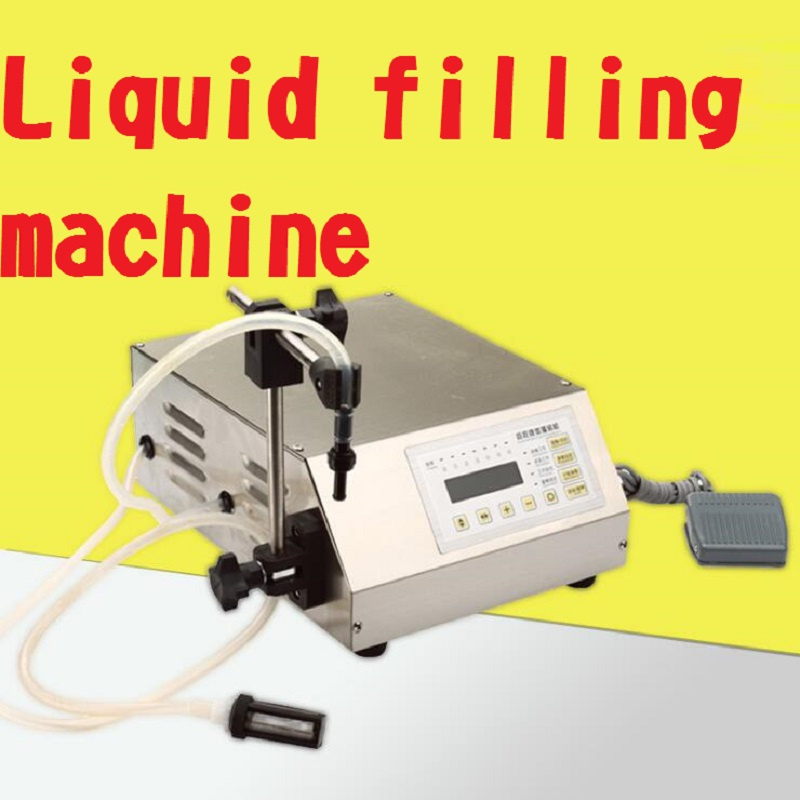 2ml-3500ml GFK-160 Accuracy Digital liquid filling machine,LCD display perfume drink water milk filling machine 6MM nozzle 220v digital control liquid quantitative filling machine automatic beverage perfume filling machine with english button