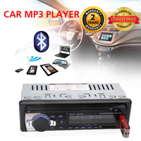 Single Din Car Stereo Audio 12V Bluetooth V2 0 In Dash FM Receiver Aux Input Receiver