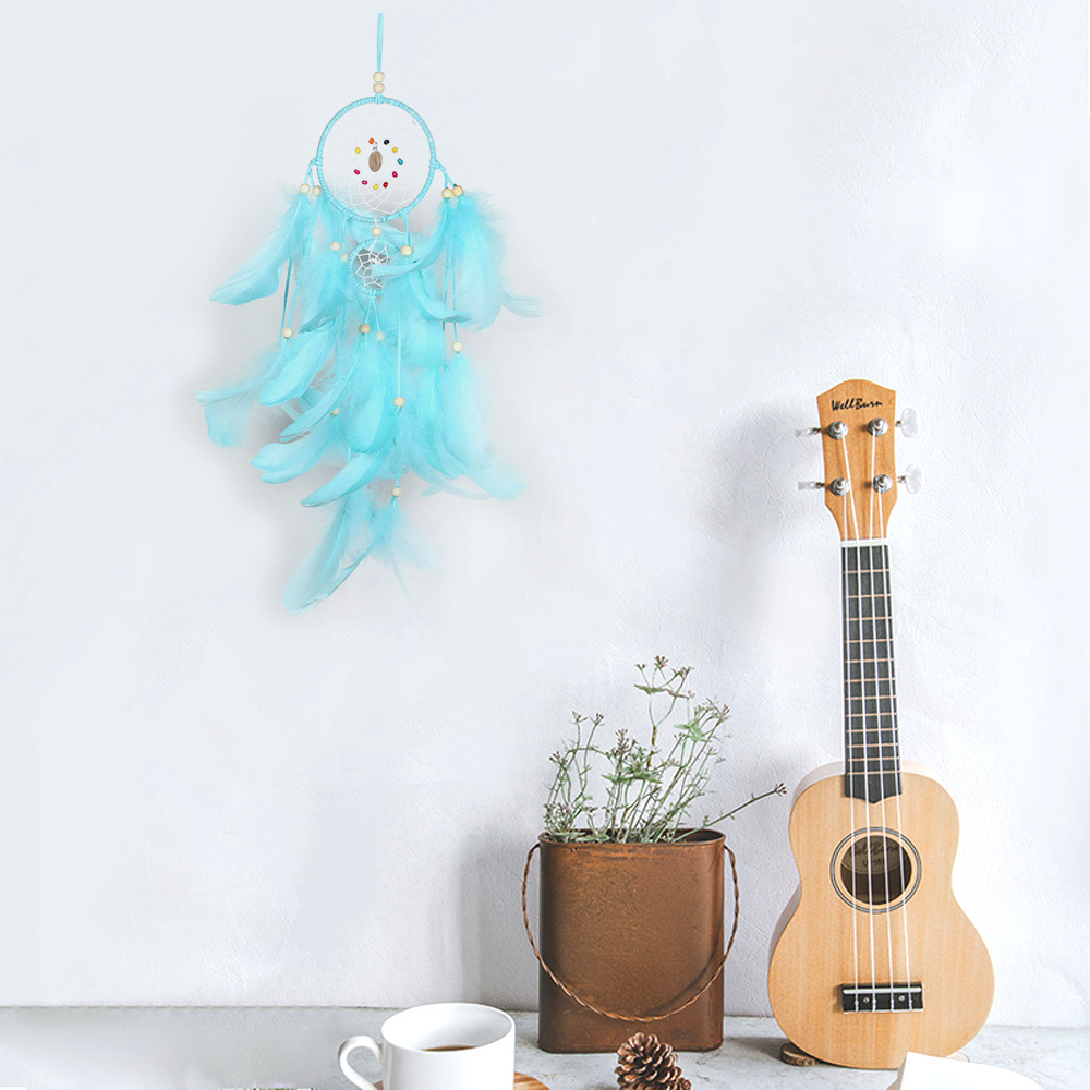 New White Green Dreamcatcher Handmade Wind Chimes Hanging Pendant Dream Catcher Home Wall Art Hangings Decorations Indian Style in Wind Chimes Hanging Decorations from Home Garden