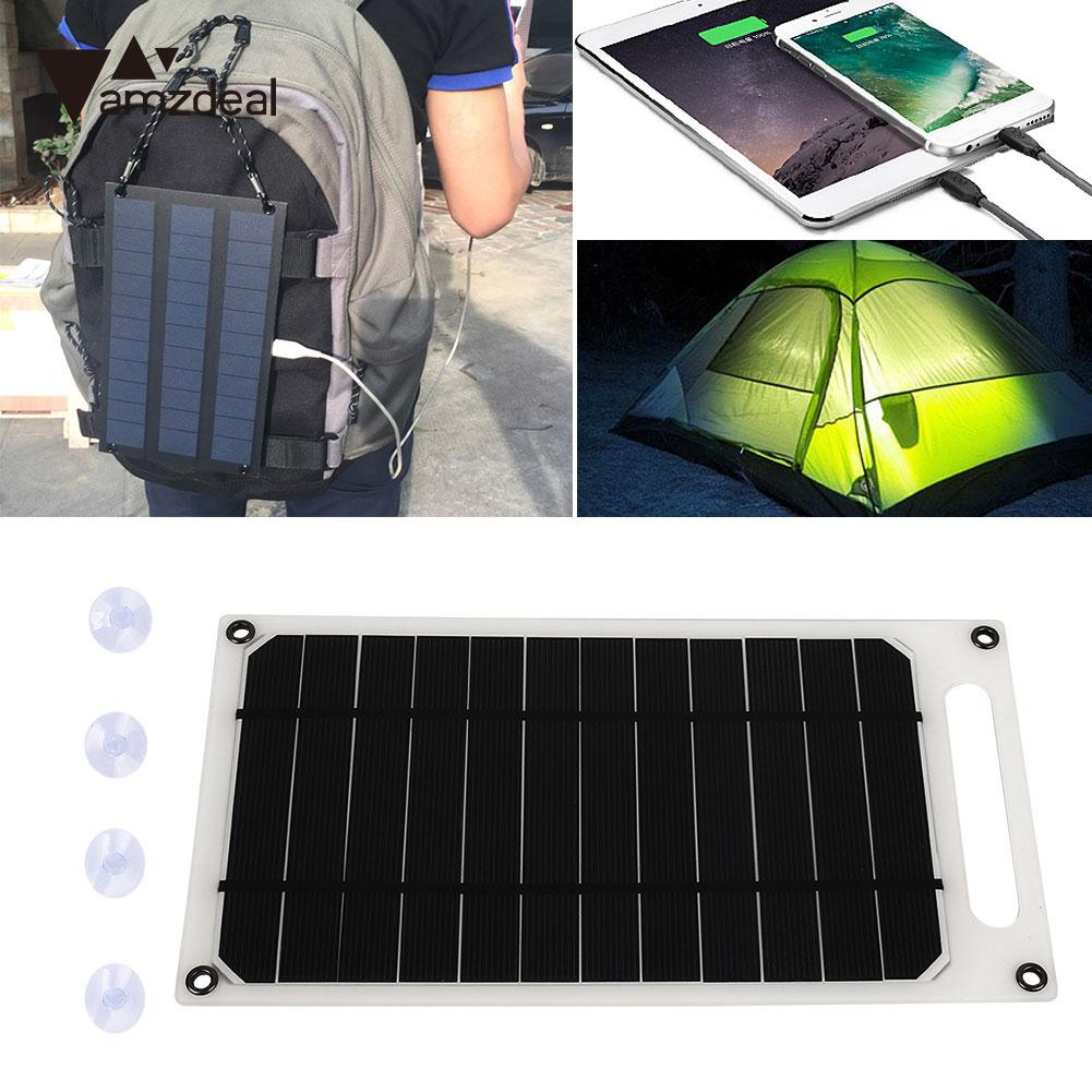 Solar Panel Camping 5V 10W Durable Solar Charger Panel Phone Charger Fast Charger USB Port Climbing Solar Generator Outdoor 12w dual usb folding solar charger solar panel module power bank outdoor emergency cell phone charger voltage current display