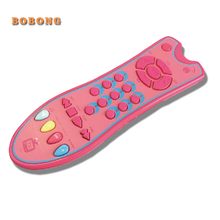 Baby Simulation TV Remote Control with Music for Kids English Learning Early Educational Toys Vocal Electronic Toys