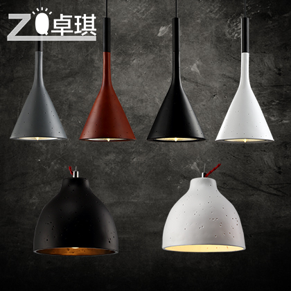 European creative imitation cement minimalist living room chandelier dining bedroom hallway American country antique lamp zzp