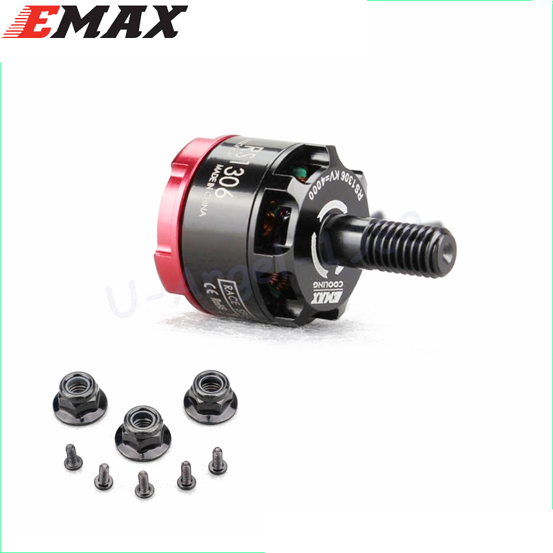 Original Emax RS1306 3300KV 4000KV Brushless Motor for FPV Racing Quad Drone QAV130 QAV150 CW CCW original emax rs1104 5250kv brushless motor t2345 3 blades propellers cw ccw props for 130 rc brushless racer drone q20400