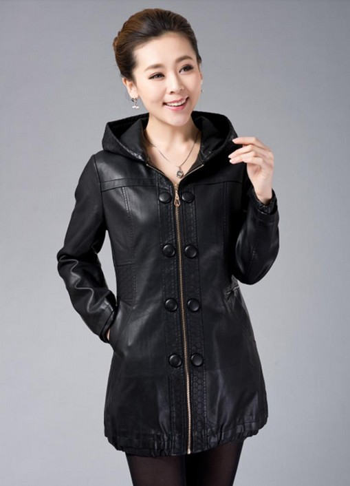 Womens leather jacket long – Modern fashion jacket photo blog
