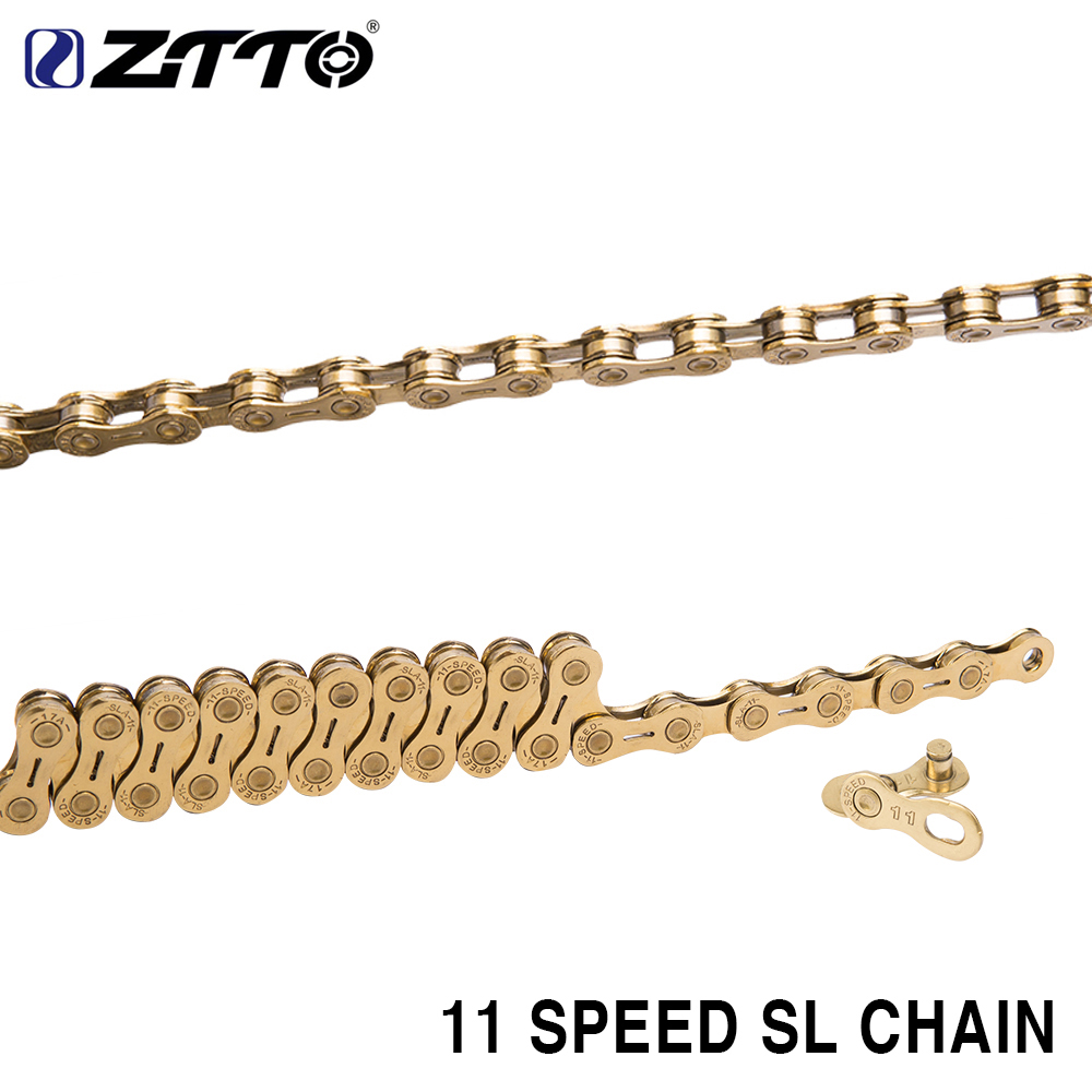 ZTTO 11s SL Golden half hollow Chain 22s 11 Speed MTB Mountain Bike Road High Quality Durable Gold for Shimano SRAM System ztto mtb mountain bike road bicycle parts high quality durable gold golden chain 10s 20s 30s 10 speed for shimano sram system