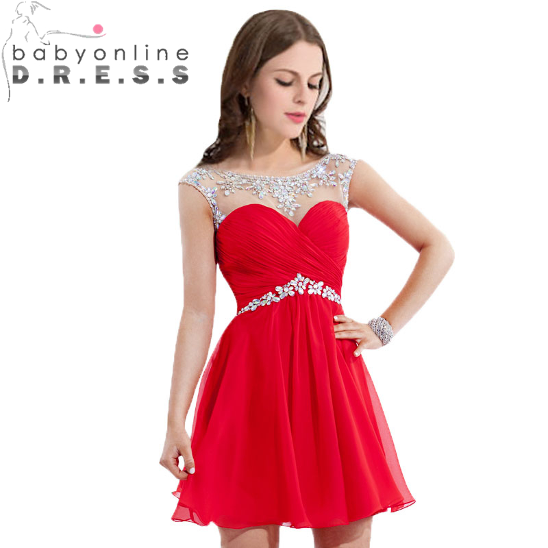 Online Get Cheap Short Prom Dresses Scoop Cap Sleeves -Aliexpress ...
