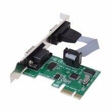 PCI-E PCI двойной последовательный DB9 RS232 серийный контроллер 2-Порты и разъёмы адаптер карты PCI Express C26