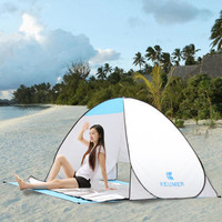 FREE SHIPPING Automatic Camping Fishing Leisure Beach Pop Up Tent 2 Person Instant Open Anti UV Awning Outdoor Tents Sun shelter