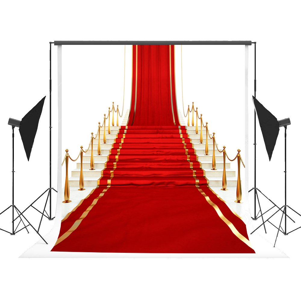 Kate Foto Hintergrund Red Carpet Photo Booth Backdrop Cartoon Road Camera Fotografica Kids Background for Wedding Fond Studio