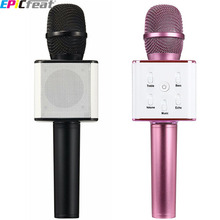 EPiCfeat Karaoke Condenser Wireless Professional Microphone for Computer Phone Live Stream Record Bluetooth USB Mixer Q7