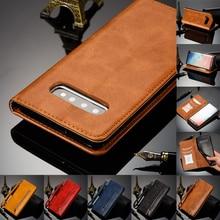 Magnetische Flip Leather Wallet Case Voor Samsung Galaxy A50 A40 A30 A20 A6 A7 A8 M10 M20 Note 9 8 s10 Plus S10e S9 S8 S7 Cover