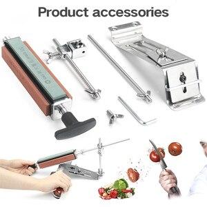 Image 5 - Afilador de cuchillos de cocina de acero y hierro, herramientas profesionales de afilado fijo, ángulo fijo, piedra de afilar de 120 1500Grit, novedad de 2020