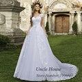 2016 Spring White Detachable Skirt Wedding Dress Lace Bridal Gown Cap Sleeve Diamonds Robe de bal Vestido de noiva
