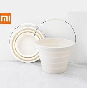 Image 1 - Seau de Gel de silice pliable Xiaomi 7.2L Portable Durable facile à nettoyer ménage extérieur voyage pêche sortie voiture lavage