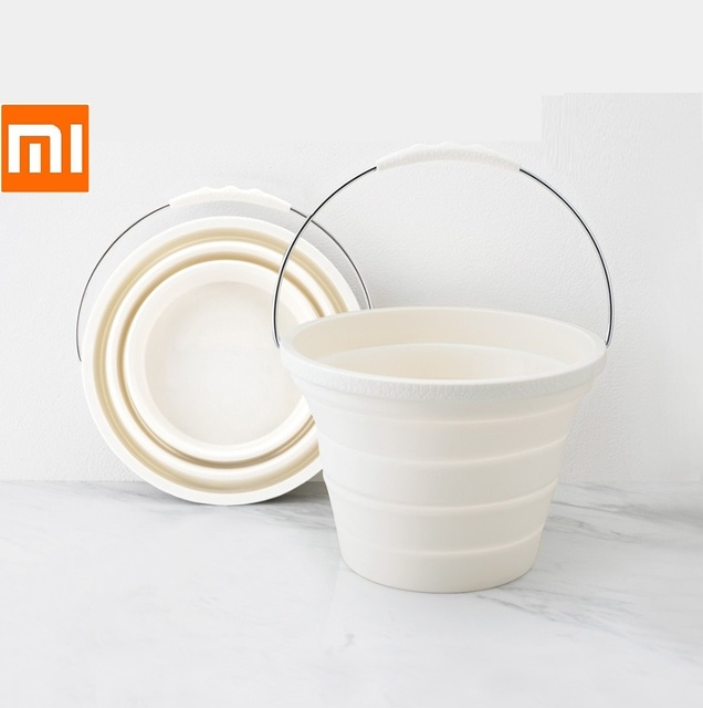 Xiaomi 7.2L Foldable Silica Gel Bucket Portable Durable Easy To Clean Household Outdoor Travelling Fishing Outing Car Washing