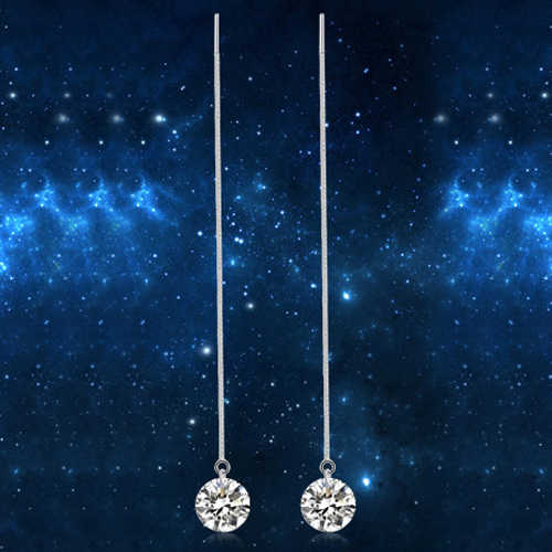 Zircon Elegant Drop Dangle ต่างหูสำหรับผู้หญิง Oorbellen แขวนเครื่องประดับ Rhinestones ยาวต่างหู